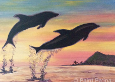 Dolphins Flyin High, Paint Party