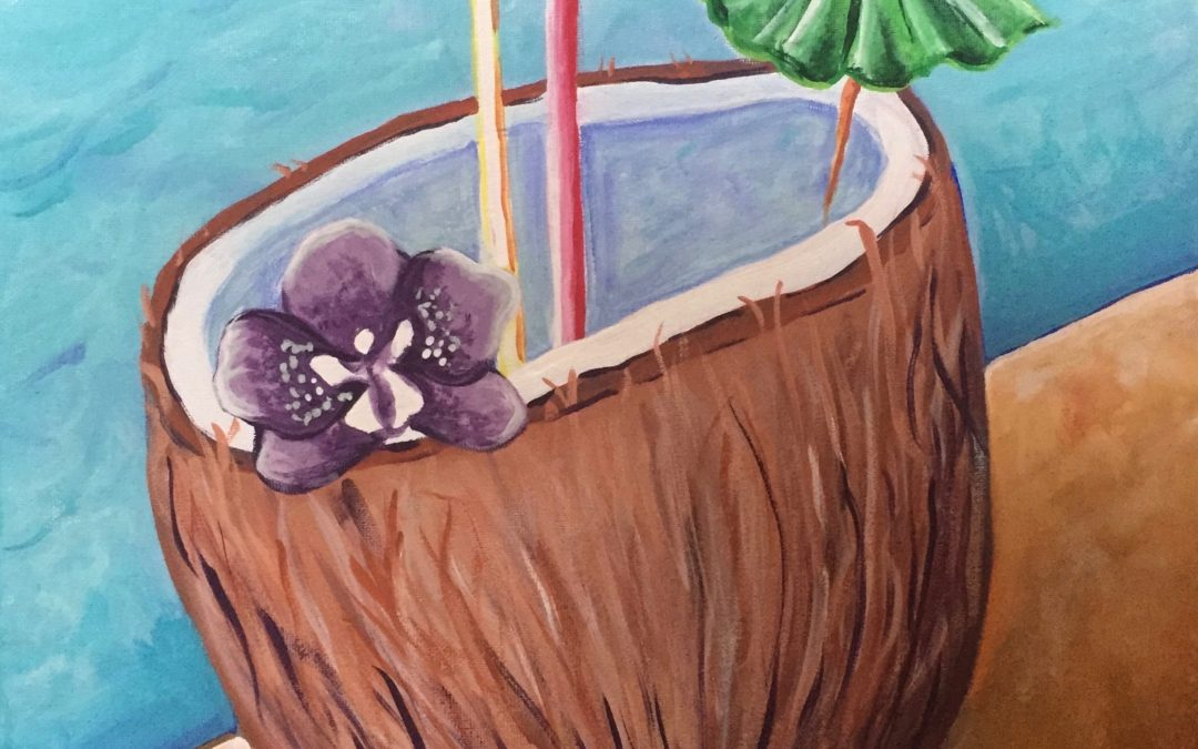 Paint Pāʻina – at Turtle Bay Resort – Surfer Bar – Drinks by the Pool