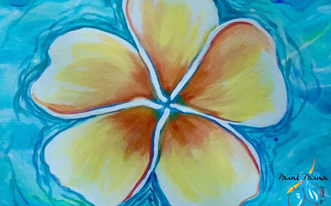 Paint Pāʻina – at Turtle Bay Resort – Surfer Bar – Floating Plumeria