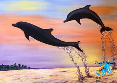 Dolphins, Flyin High, paint party