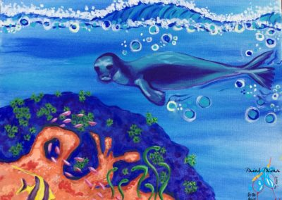 Hawaiian Monk Seal, paint party