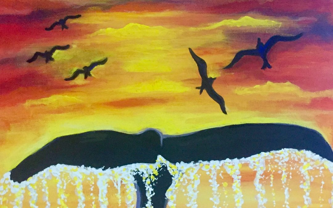 I Saw a Whale, paint party, paint paina, paint party Hawaii, Hawaiian style entertainment