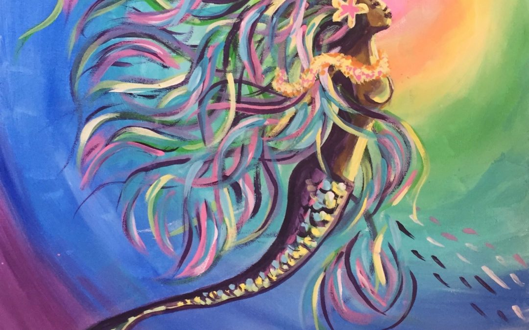 Paint Pāʻina – California Pizza Kitchen Mililani – Rainbow Mermaid