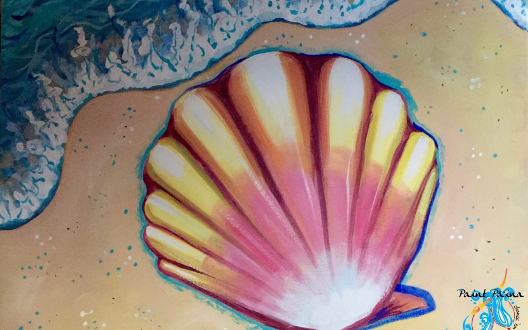 Paint Pāʻina – at Turtle Bay Resort – Lobby Lounge – Hawaiian Sunrise Shell