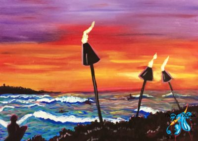 Sunset Surf, paint party