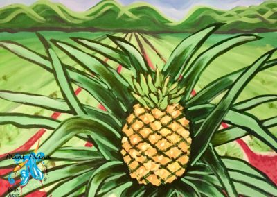 Through the Pineapple Fields, paint party