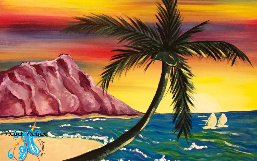 Paint Pāʻina – at Turtle Bay Resort – Lobby Lounge – Diamond Head
