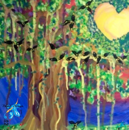 Mynahs in the Banyan Tree, paint party, paint paina, paint party Hawaii