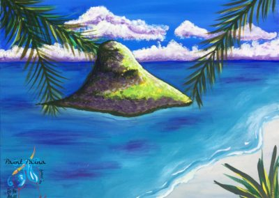 Chinamanʻs Hat, paint party Hawaii