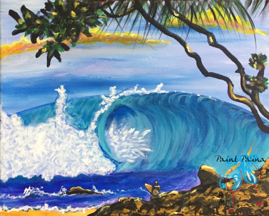 Rocky Point Hawaii, paint paina