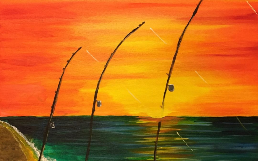 Fishing, Paint Paina, paint party hawaii, ulua fishing, painting class