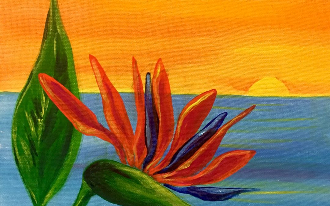 Paint Pāʻina – at Turtle Bay Resort – Surfer Bar – Bird of Paradise
