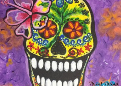 Sugar Skull, Halloween, paint paina, paint party hawaii, art class, painting