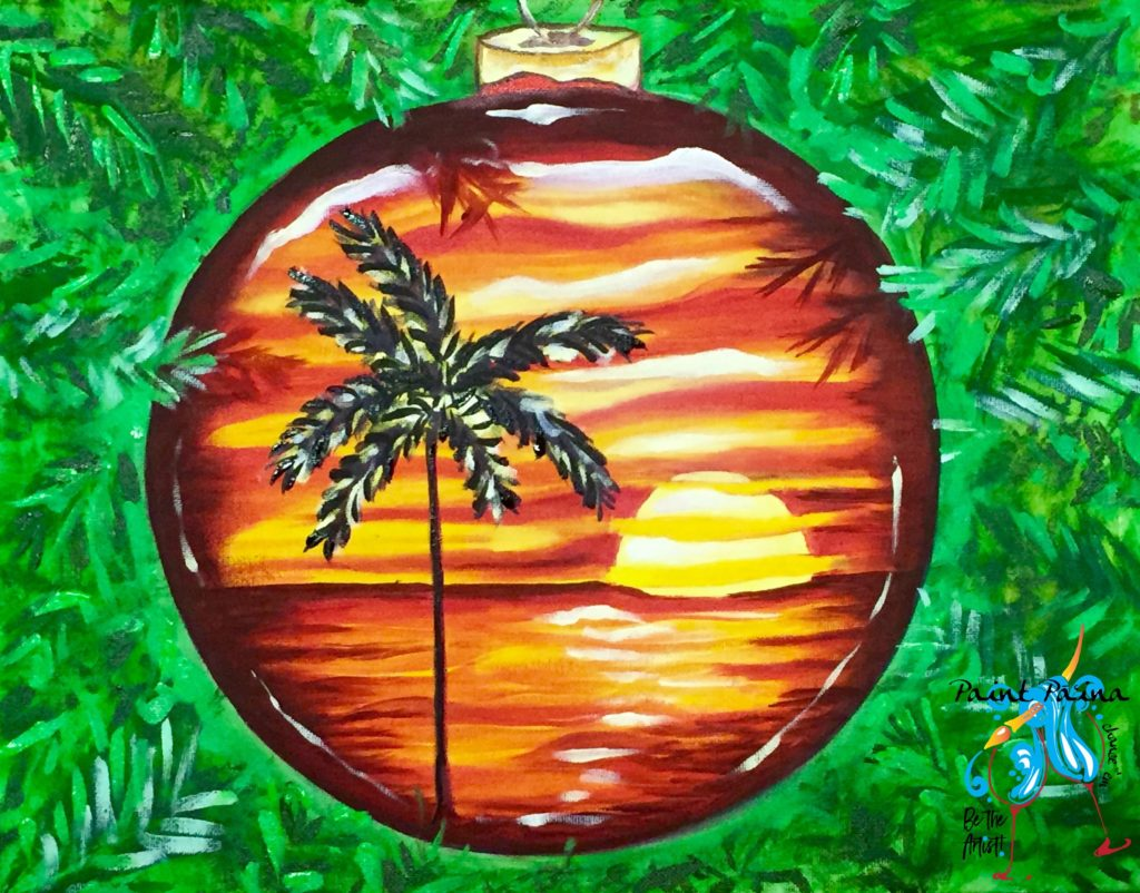 Christmas Sunset, paint party