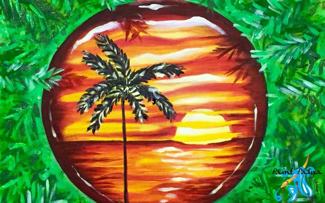 Paint Pāʻina – at Turtle Bay Resort – The Spot – Red and Green Reflections