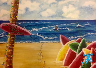 Santaʻs surf school, paint party hawaii