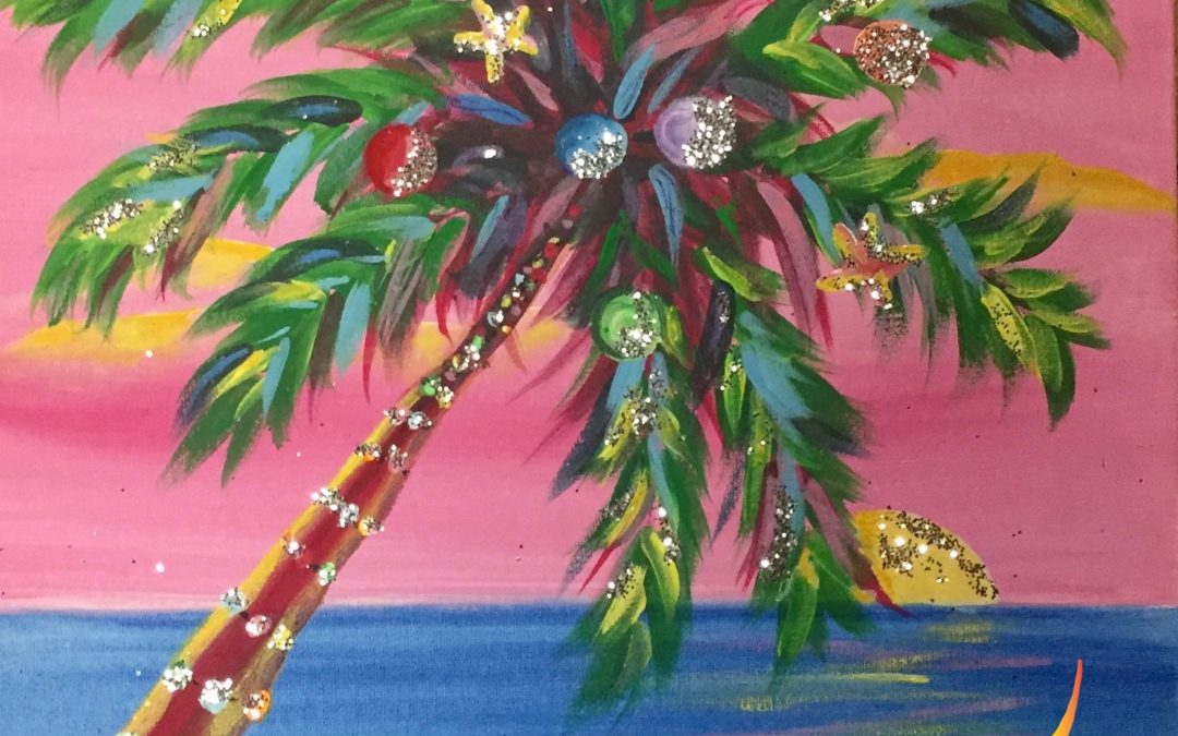 Paint Pāʻina – at Turtle Bay Resort – Lobby Lounge – Christmas Palm
