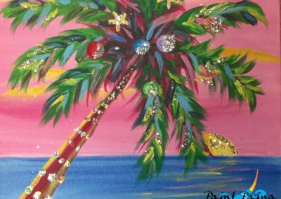 Christmas Palm, paint party hawaii
