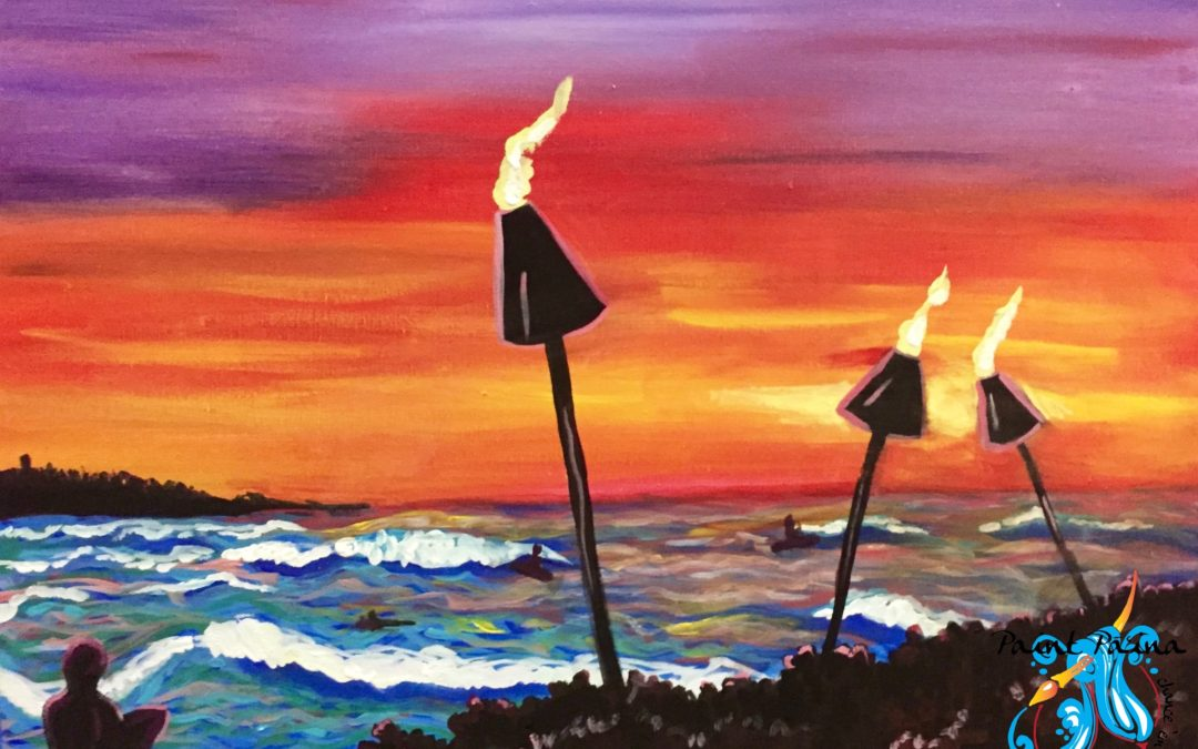 Paint Pāʻina – at Turtle Bay Resort – Surfer Bar – Sunset Surf