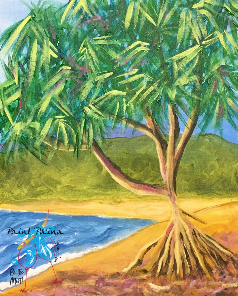 Hala Tree, Tree of Life, paint party, paint paina, Be the artist, hawaii