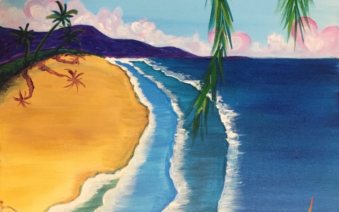 Paint Pāʻina – at Turtle Bay Resort – Lobby Lounge – I Love the Beach