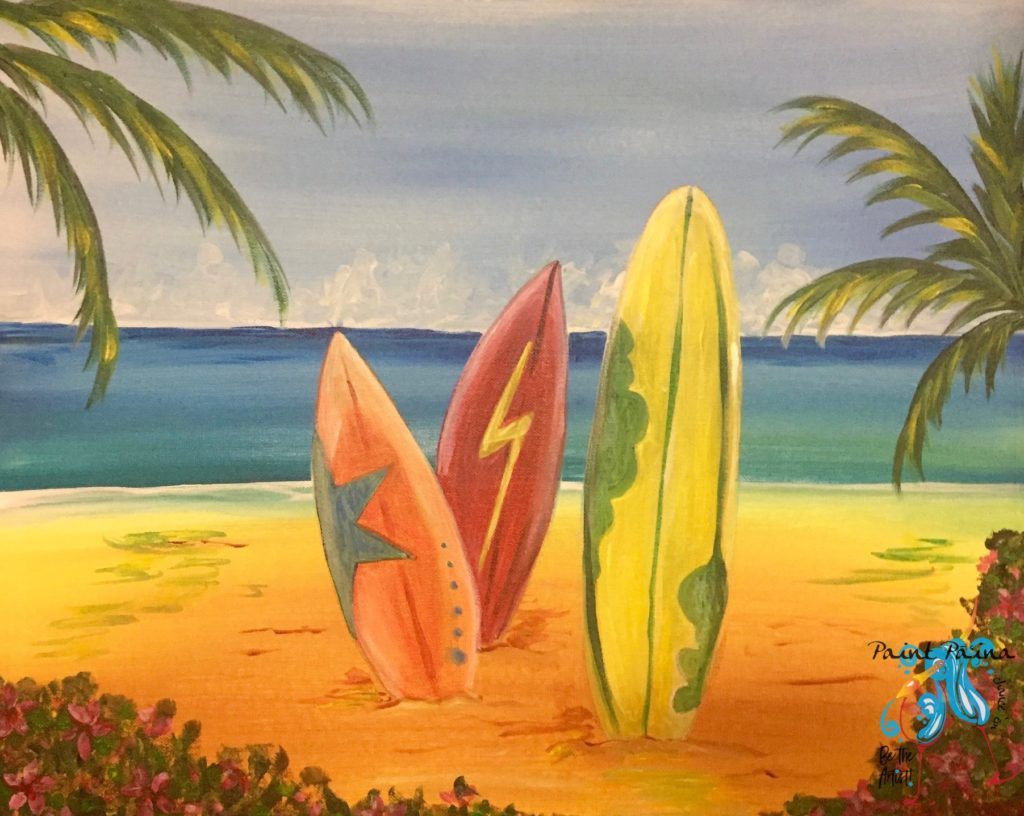 Lifeʻs a Beach, Paint Party Hawaii