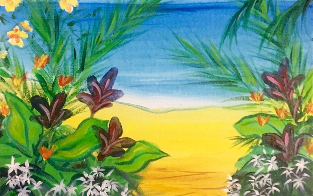 Paint Pāʻina – at Turtle Bay Resort – Lobby Lounge – Path to Secret Beach