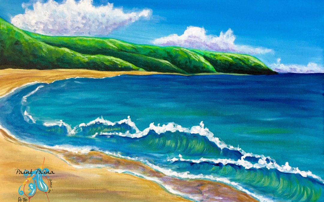 Kaena Point, Paint Party, Hawaiian Style paint party, paint paina, painting, art class