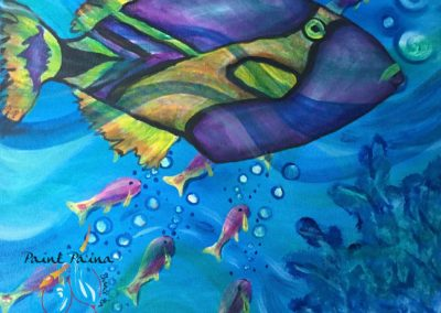 Humuhumunukunukuapuaʻa, Hawaii state fish, paintparty, Paint Pāʻina