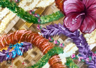 May Day is Lei Day, Hawaii, paint party, paint paina, lauhala