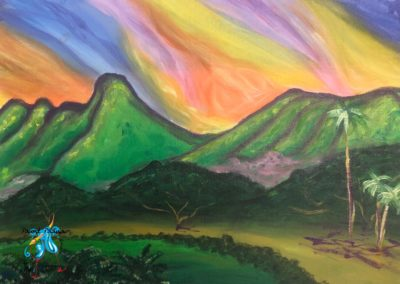 Oahu Country Club, paint party, paint paina
