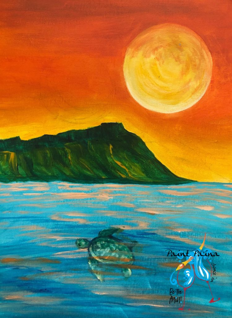 Turtle Moon, paintparty,