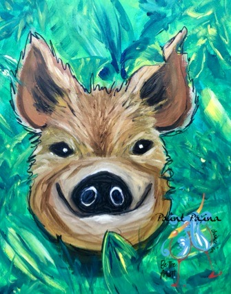Painting Puaʻa, Hawaiian pig